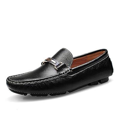 ab6a983b3ef5 Homme Chaussures Mocassin Mocassin Eté Automne Eté Slip-Ons pour Bureau &  Carrière Blanc, Noir: Amazon.fr: Chaussures et Sacs