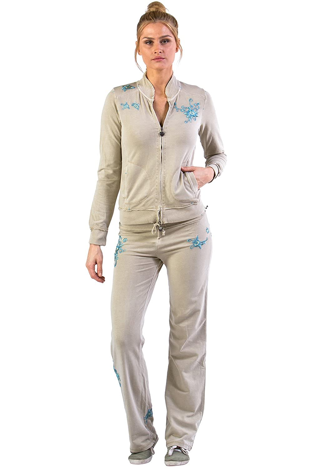 VERTIGO PARIS Vintage Women's Wash Emroidered Lounge Tracksuit Jog Set VT13319