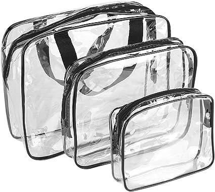THEE Bolsa Transparente Impermeable de Com/éstico Organizador de Viaje