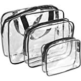 Bolso de Transparente, 3PCS Multifuncional Portátil Mochila Impermeable, PVC Bolsillo Organizadores de Maletas, Maquillaje Organizador, Viaje Bolsa Organizador, Bolsa de Cosméticos Viaje de Maquillaje