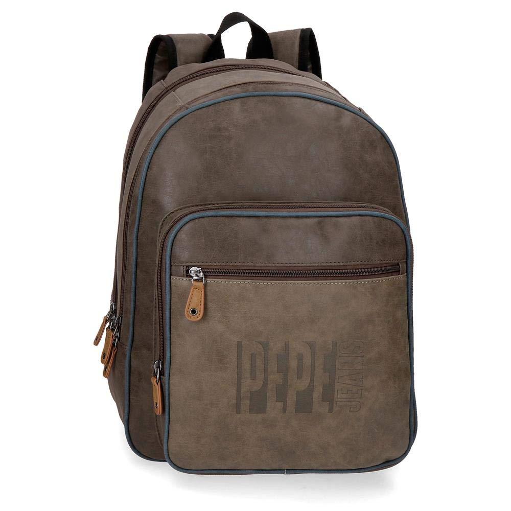 Pepe Jeans Max Schoolバックパック、44 cm、ブラウン(ブラウン) - 6352461   B07NCN6YNQ
