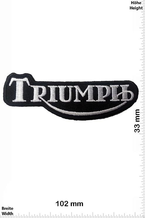 Patch - Triumph - schwarz/silber - Auto - Motorrad - Motorcycle- Motorsport - Racing Car Team - Classic - Patches - Aufnäher