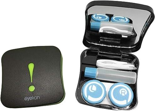 SUPVOX Caja de Lentes de Contacto Kit de Viaje Estuche Lentillas con Pinza Aplicador Palo Botella de Solución Patrón aleatorio: Amazon.es: Salud y cuidado personal