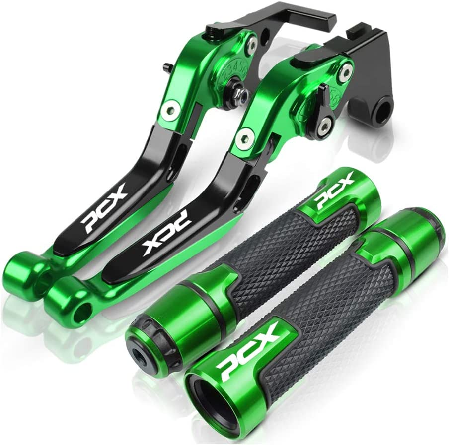 Fit for H/&ONDA PCX125 PCX150 PCX 125 150 2018 2019 YOUFUDE Motorcycle CNC Rubber Handlebar Hand Grips Aluminum Folding Adjustable Brake Clutch Lever