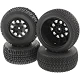 AE Team Associated 1/10 SC10 RS 2WD * BLACK TIRES & WHEELS & FOAM 12mm