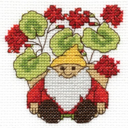 DMC FLOWERS Mini Cross Stitch - Geraniums by DMC (Dmc Flower)