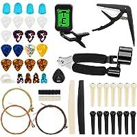 Yideng 65 PCS Kit de Accesorios de Guitarra, Incluye 3 en 1 Cuerda de Cuerda, Púas de Guitarra, Púas de Tuercas…
