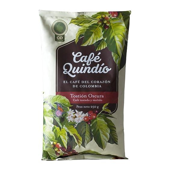 """Café Quindío 100% Colombiano Café Molido Tradicional Tostión Oscura"""", 250g"""