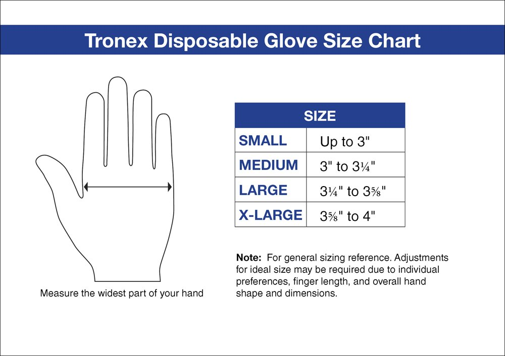 Tronex-Nitrile Chemo-Rated Exam Glove, 12'' Extended Length, Fully-Textured, Powder-Free, Blue (500, Medium)