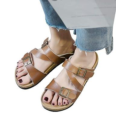 47d2569a45e39 Amazon.com: Memela Clearance sale Women's Slippers Cork Slides ...