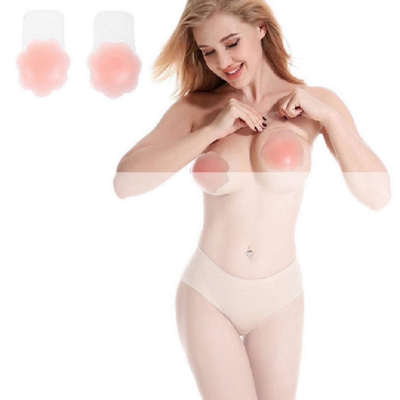 Tuopuda Klebe BH Push Up Damen Nipple Cover Unsichtbarer Brust Lift Up Adhesive Bra f/ür Tr/ägerloser R/ückenfrei Abendkleider Unsichtbare Nippelabdeckung Selbstklebend