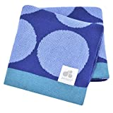 Just Born Jacquard Blanket, Blue Circles