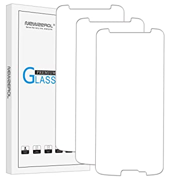 Newzerol - Protector de pantalla de cristal templado para Smartwatch Moto G6 (5,7 pulgadas, 3 unidades) 2.5D Arc Edges 9 Dureza Alta Definición