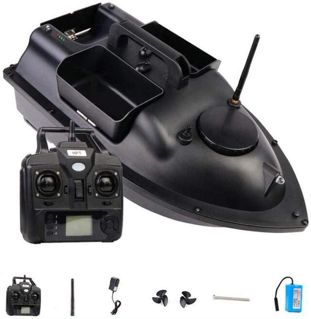 Primer del Barco con Control Remoto 2.4GHz Bait Bait Pesca Distancia de la Pesca Control Remoto 500m 2kg Herramienta de Pesca de Carga asistida de 2 kg Gran Capacidad 12000mAh Impermeable