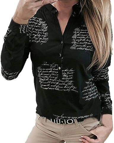 8810 Blusa A Cuadros Camisa Mujer De A Festiva Ropa Cuadros con Bolsillos En El Pecho Cárdigan Tops Manga Larga Cuello Alto Casual Sudadera A Cuadros Sueltos Top Camisa: Amazon.es: Ropa y