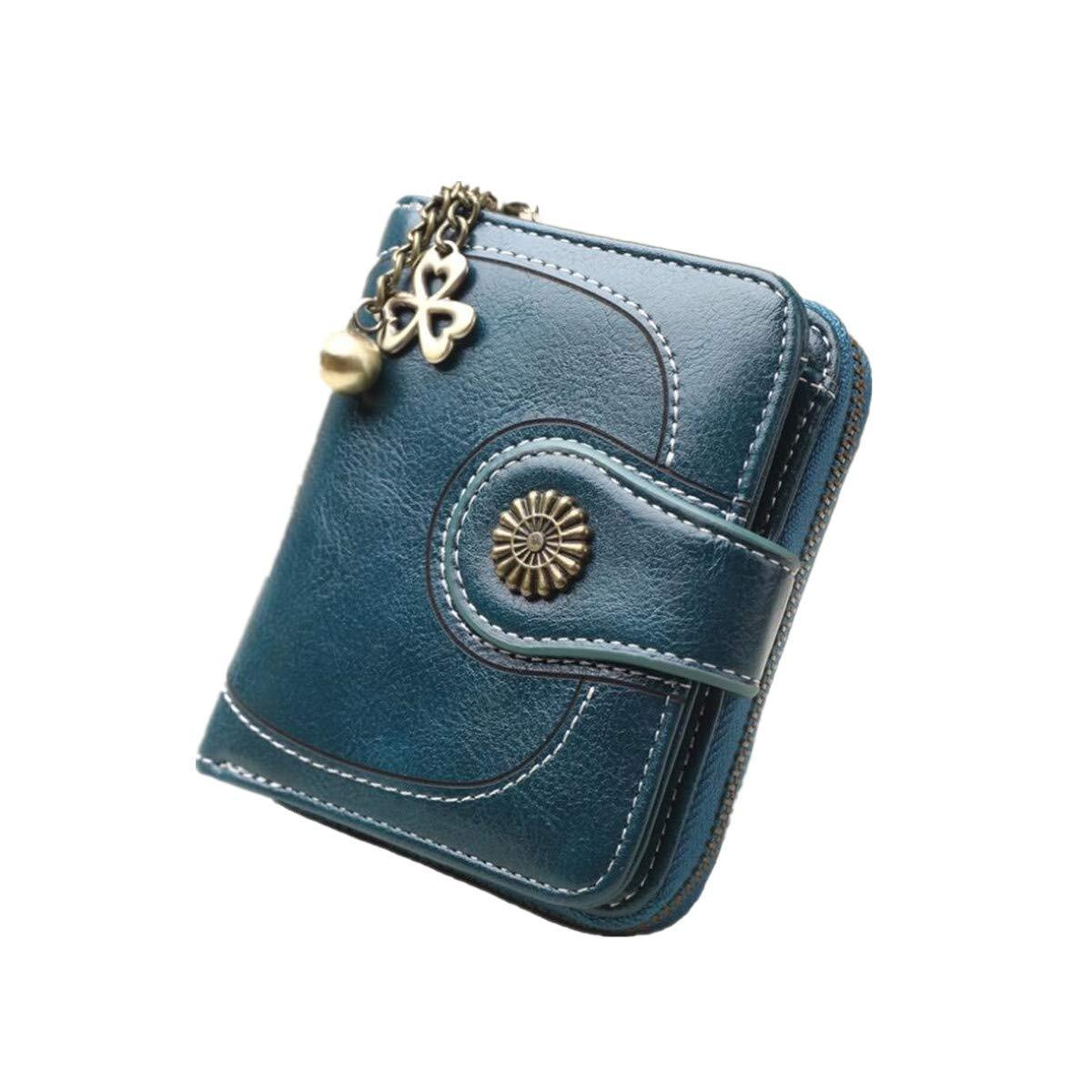 bc54435d0836 LJYH Women's Coin Purse Wristlet Handbag Vintage Clutch Bag Oil Wax ...