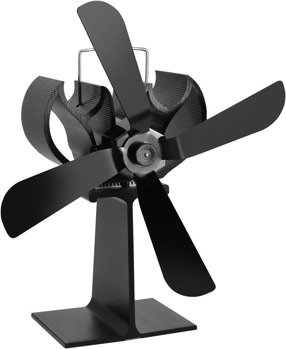 Cozywind Ventilador para Estufa de Leña o Chimenea en Invierno, con 4 aspas, Calefacción de Energía Térmica
