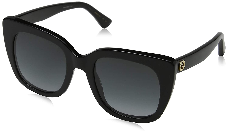 TALLA 51. Gucci GG0163S 001 Gafas de sol, Negro (1/Grey), 51 para Mujer