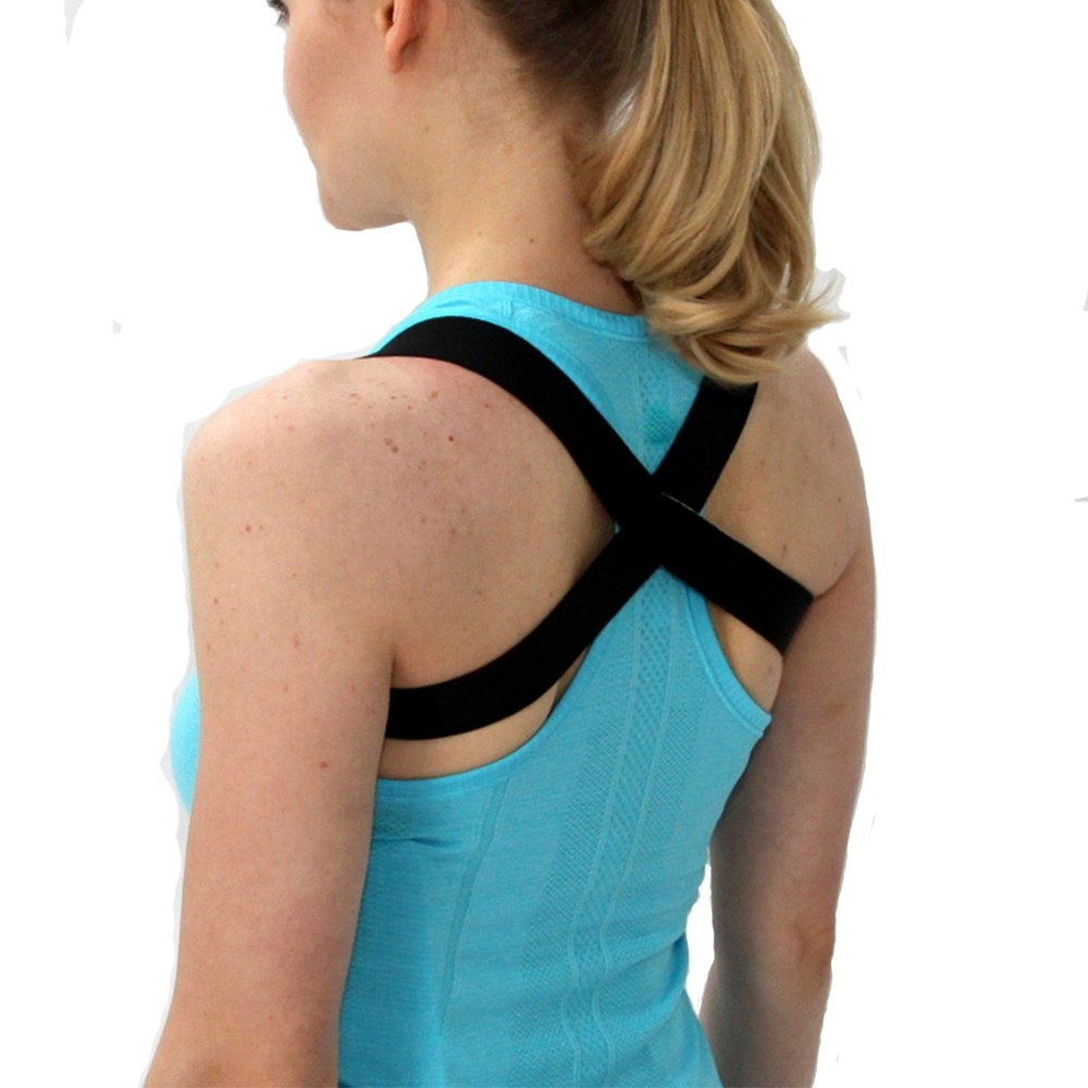 The 2 in 1 Posture Brace | Posturific Brace.com - Posture Corrector (Black Medium)