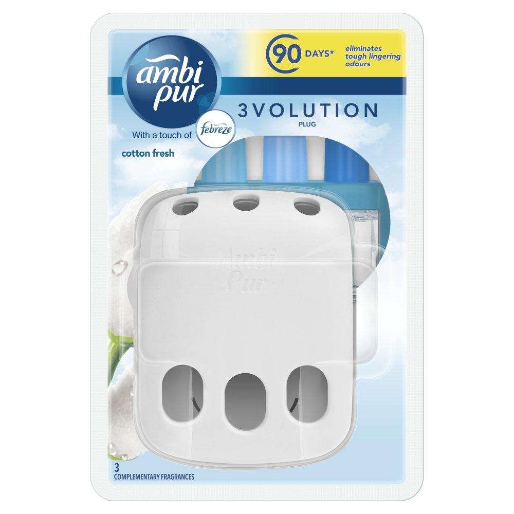 Ambi Pur 3Volution Cotton Fresh Plug in Starter Kit PRXKD null