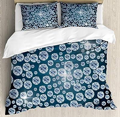 Microfiber Quilt coverReflections of Diamond Duvet Cover SetDecorative 3 Piece Bedding Set