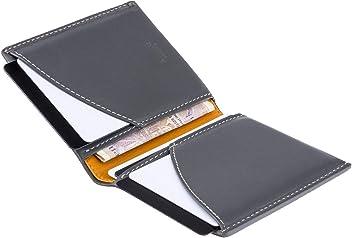 A-SLIM Origami Wallet - RFID Wallet with 4 Card Slots - Minimalists Wallets (Gargoyle Grey & Mustard Yellow)