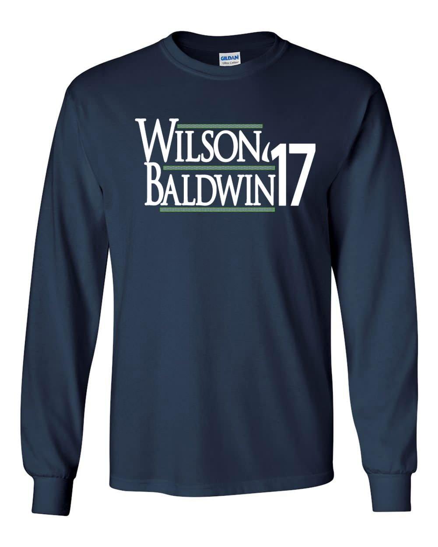 Navy Seattle Wilson 17 Tshirt