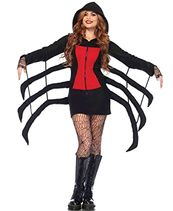 amazoncom leg avenue 85558 cozy black widow spider halloween costume clothing