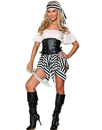 sc 1 st  Amazon UK & Ladies Pirate Costume: Amazon.co.uk: Clothing