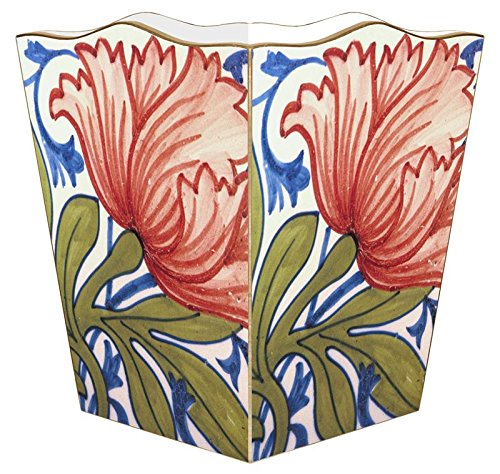 WB559-Delft Red Poppy Wastepaper Basket