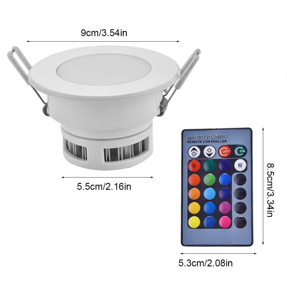 Dimmerabile 16 colori che cambiano Faretto da incasso a soffitto Lampadina LED RGB 5W Lampada da pannello con telecomando