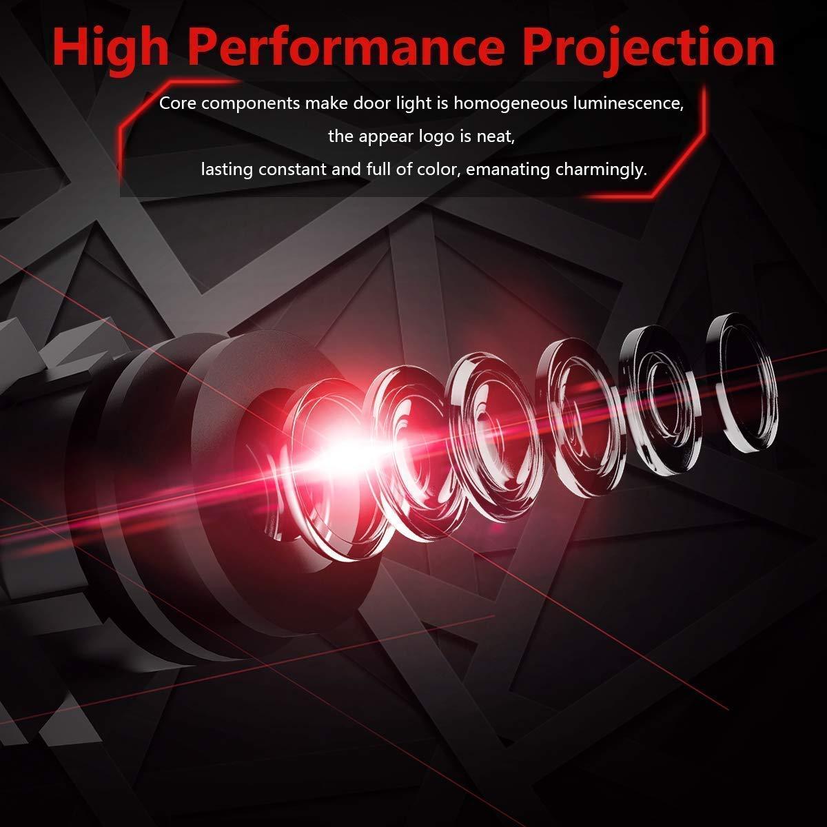 HConce Einstiegsbeleuchtung T/ür Licht Logo Projektor Autot/ür Logo Projektion 2 St/ück