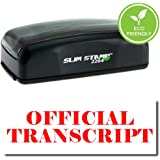 Pre Inked Official Transcript Stamp Red Ink