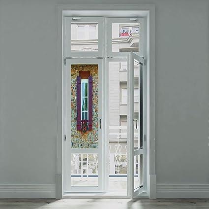 Amazon.com: YOLIYANA Decorative Privacy Window Film,Shutters ...