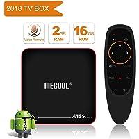 Wecast Mecool M8S Pro W 2.4G Voice Control Smart TV Box Android 7.1.1 Amlogic S905W 2GB RAM 16GB ROM Set Top Box H.265 4K Media Player-Black