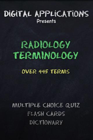 Radiology Terminology