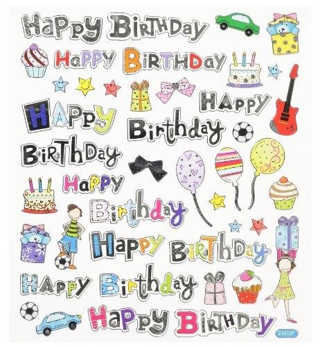 Hobby Design Sticker * Happy Bithday Geburtstag * Aufkleber 3452346 Hobbyfun
