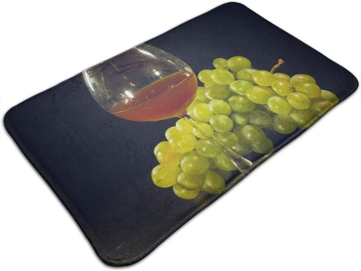 N A Grapes And A Glass Of Wine All Season Indoor Outdoor Welcome Doormat Easy Clean Entry Mats 60 X 40 Cm 24 X 16 Inch Amazon Co Uk Kitchen Home