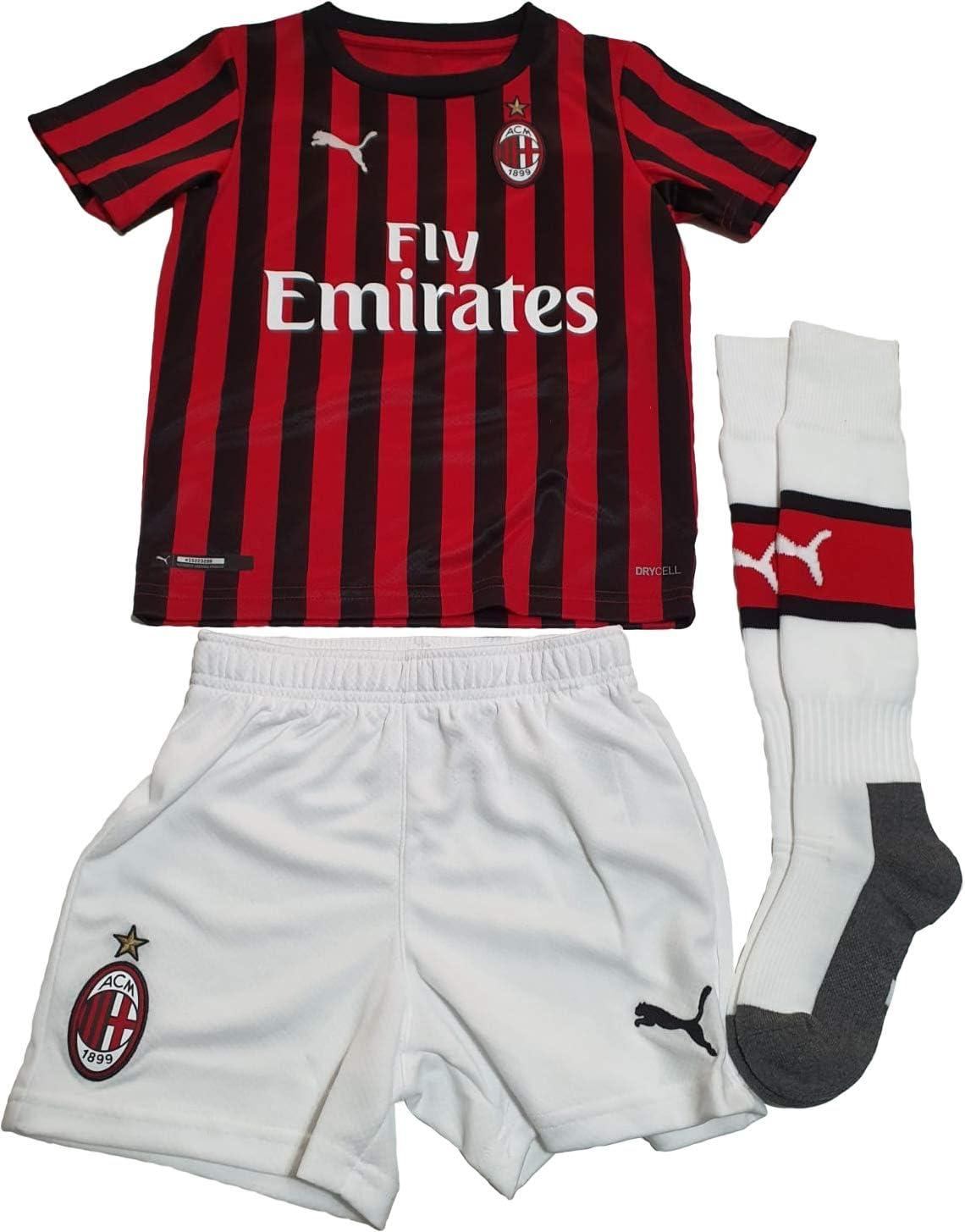 Amazon Com Magusa S R L S Ac Milan Home Replica 2019 2020 Ibrahimovic Child Baby Kit Football Boys Kitbaby01 Tango Red Black 74 Sports Outdoors