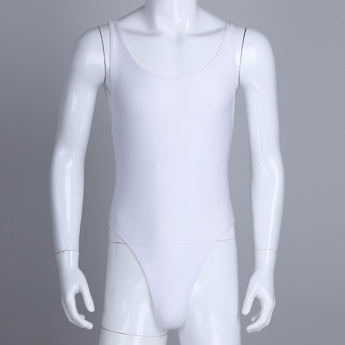 Yeahdor Mens One-Piece High Cut Thongs Underwear Wrestling Singlet Leotard Bodysuit Bikini Swimsuit