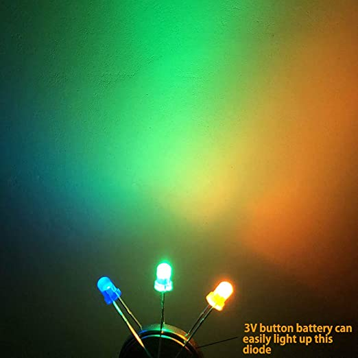 LOSCATO 200 Pieces LED Emitting Diodes Assortment Kit Bulb LED Lamp White//Red//Yellow//Green//Blue 3mm//5mm