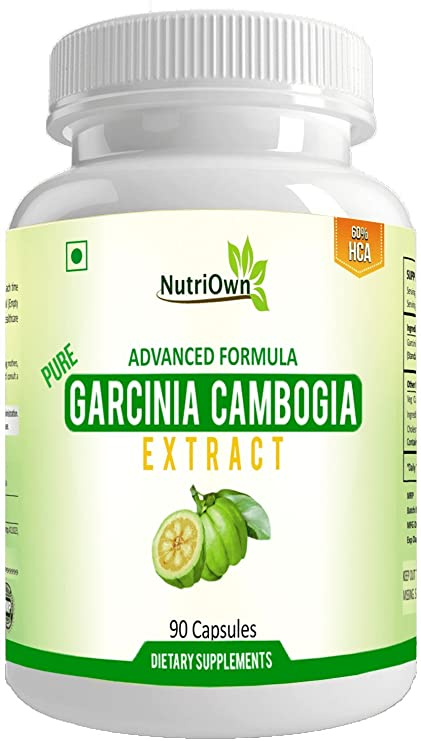 Nutriown Pure Garcinia Cambogia Extract Ultra Weight Loss For Men And Women Natural Fat Burn Supplements 500 Mg 60 Hca Pack Of 1
