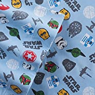 Star Wars Scatter Print Flannel Full Sheet Set