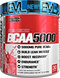 Evlution Nutrition BCAA5000 Powder 5 Grams of Branched Chain Amino Acids (BCAAs) Essential for Performance, Recovery, Endurance, Muscle Building, Keto Friendly, Zero Sugar, 30 Servings, Watermelon
