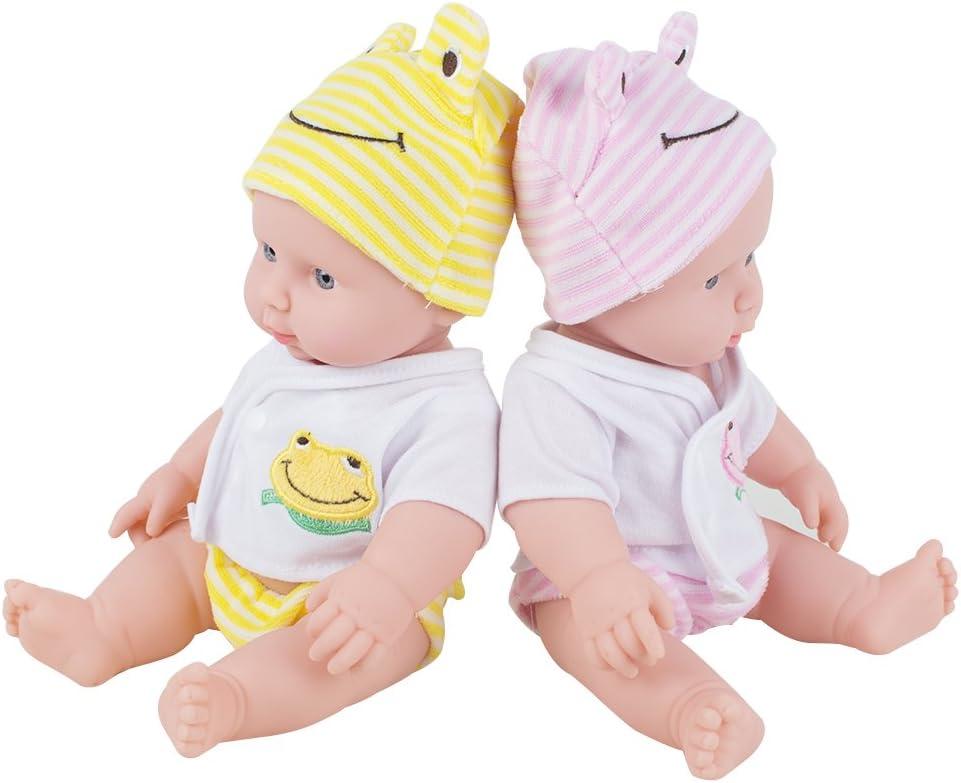 Careshine Reborn Babypuppe Weiche Vinyl Silikon Lebensechte Sound Lachen Schrei Neugeborenen Spielzeug f/ür Jungen M/ädchen Geburtstagsgeschenk