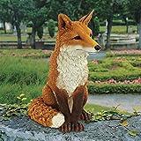 Design Toscano DB383073 Simon The Fox Garden Statue, 18 Inch, Full Color