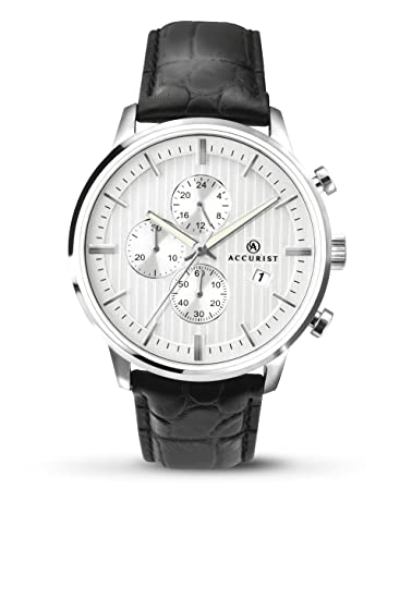 a68932157 Accurist Mens Chronograph Quartz Watch with Leather Strap 7032.01:  Amazon.co.uk: Watches