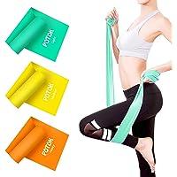 Theraband Fitnessband, set van 3 stuks, lange fitnessbanden, weerstandsbanden, trainingsband voor spieropbouw, yoga…
