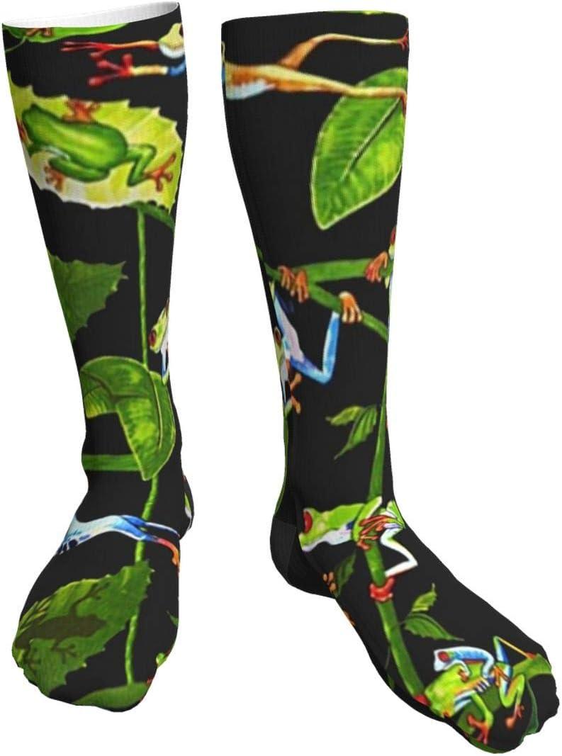 Pengxuelinshop - Calcetines de invierno unisex con diseño de dinosaurios y rosas