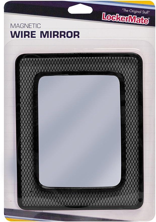 Black 01056 LockerMate Magnetic Wire Mirror TM